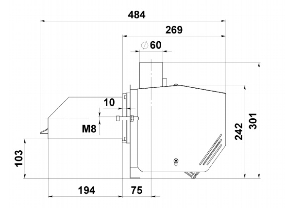 Пеллетная горелка AIR Pellet 15 кВт 1