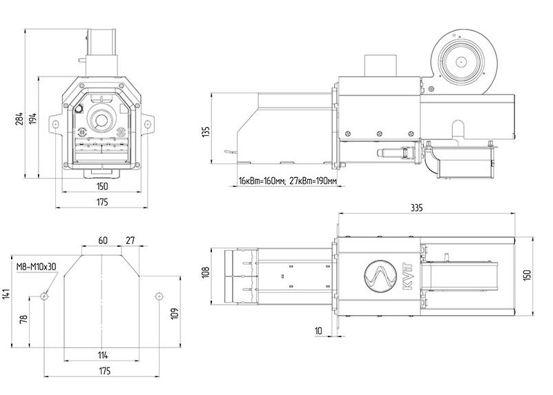 горелка для автоматической подачи Kvit Lyuta 27 кВт 1