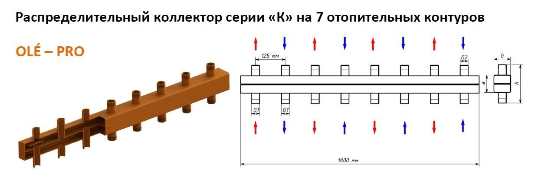 Коллектор OLEPRO ОКС-К-3-7-НР 0