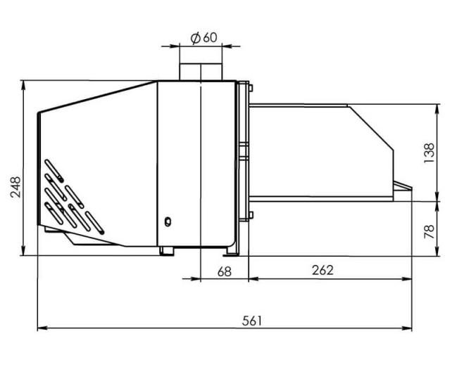 Горелка пеллетная Bioprom AIR Pellet 36 кВт  4
