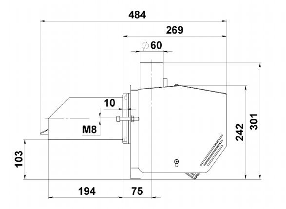 Горелка для пеллетного котла Kvit Lyuta 44 кВт 3