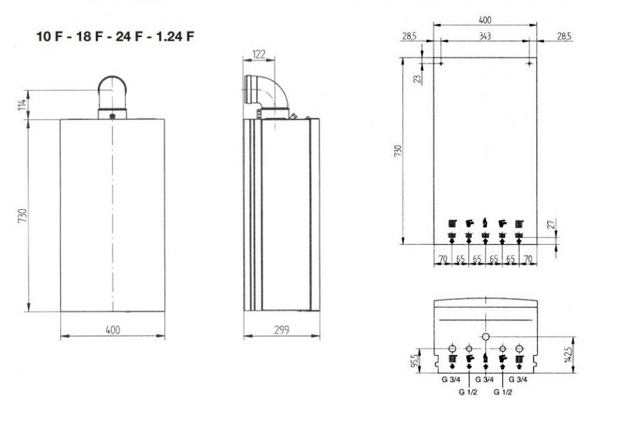 Турбированный двухконтуный котел baxi ECO 4s 10 F 4