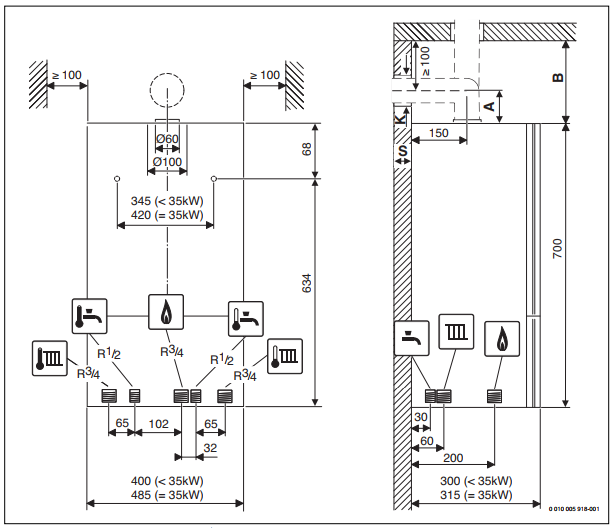 Котел Bosch WBN6000 -35C RN 1