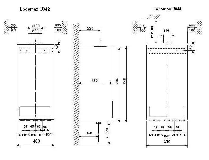 Котел газовый Buderus Logamax U044-24K 2