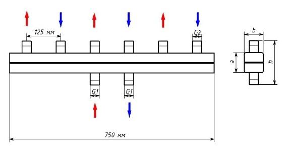 Распределительный коллектор OLEPRO ОКС-К-3-3-НР-К 0