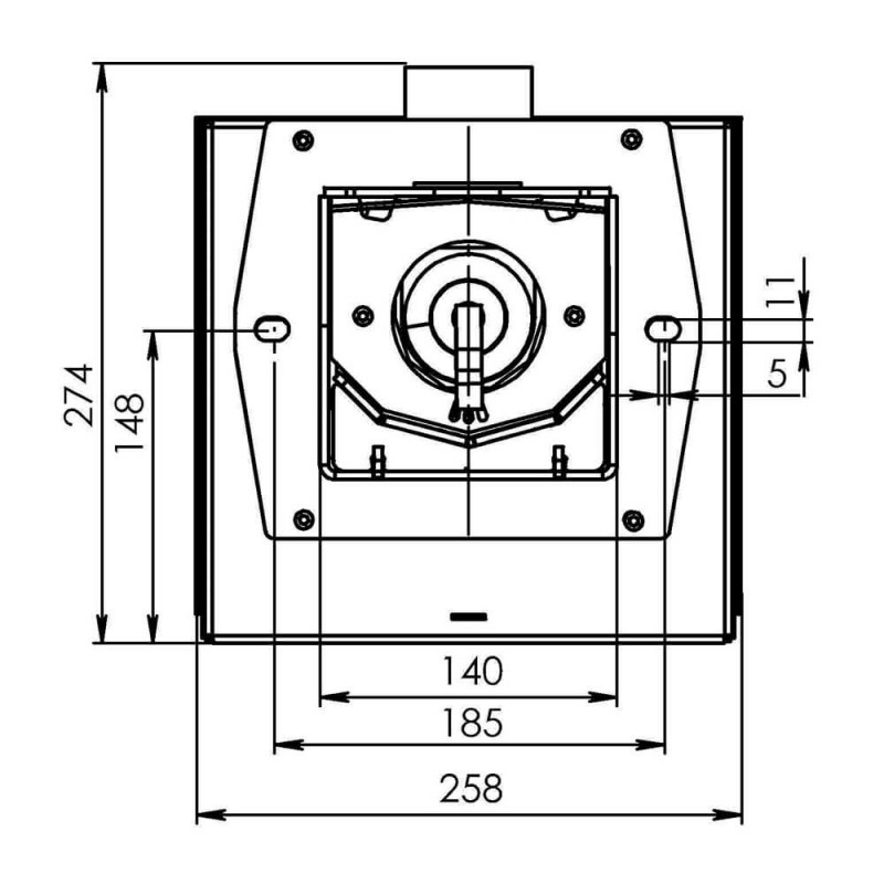 Горелка пеллетная Bioprom AIR Pellet 36 кВт  5