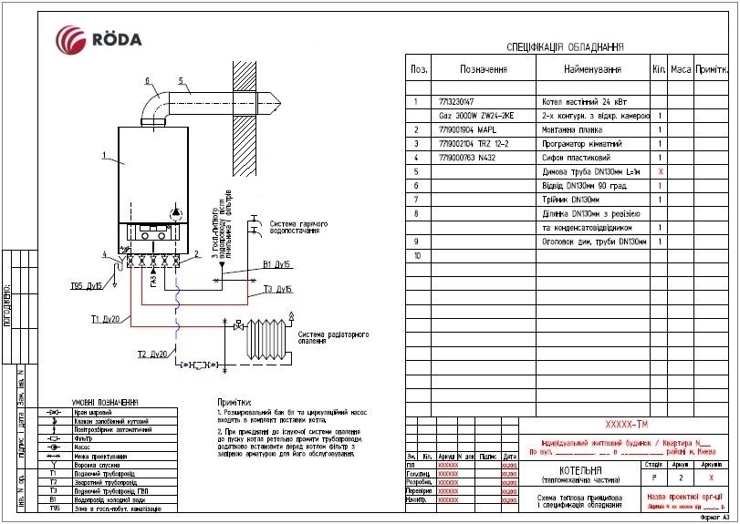 Котел газовый Roda VorTech Duo OC 24 3