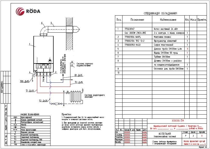 Газовый Котел  Roda ECO Duo 24 CS 3
