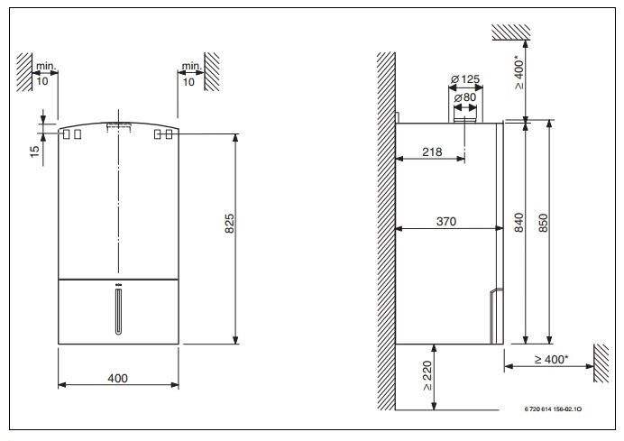 Конденсационный котел одноконтурного исполнения ZSBR 28-3 A  2