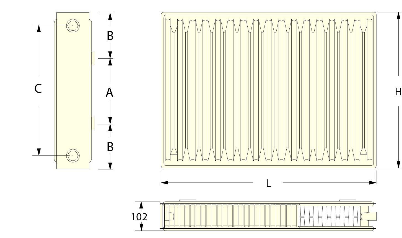 Радиаторы Roda 22500*400 4