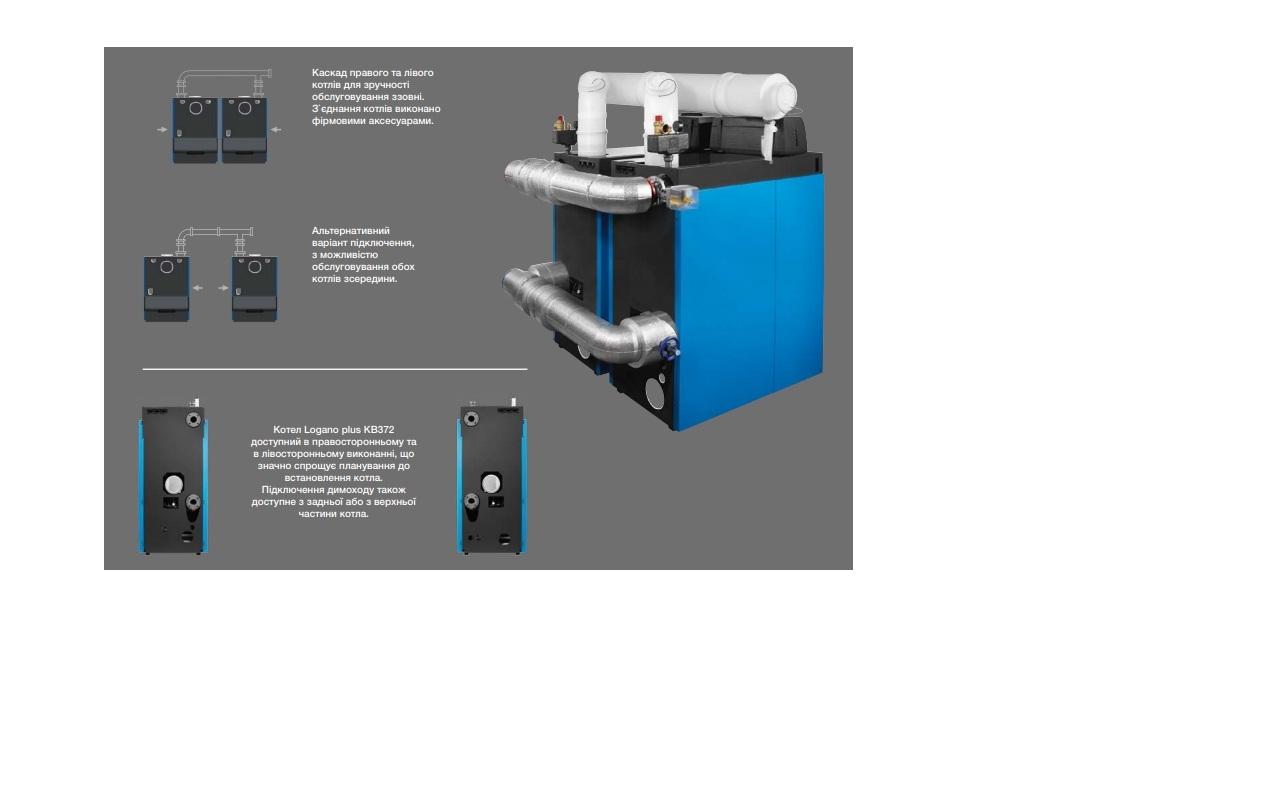 Газовый напольный конденсационный котел Logano plus KB372, 75 кВт 4