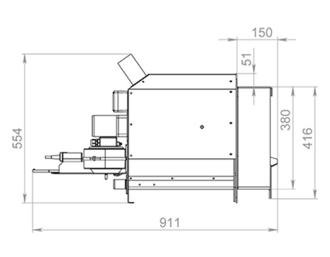 Факельная горелка Биопром Air Pellet Ceramic 200 кВт 0
