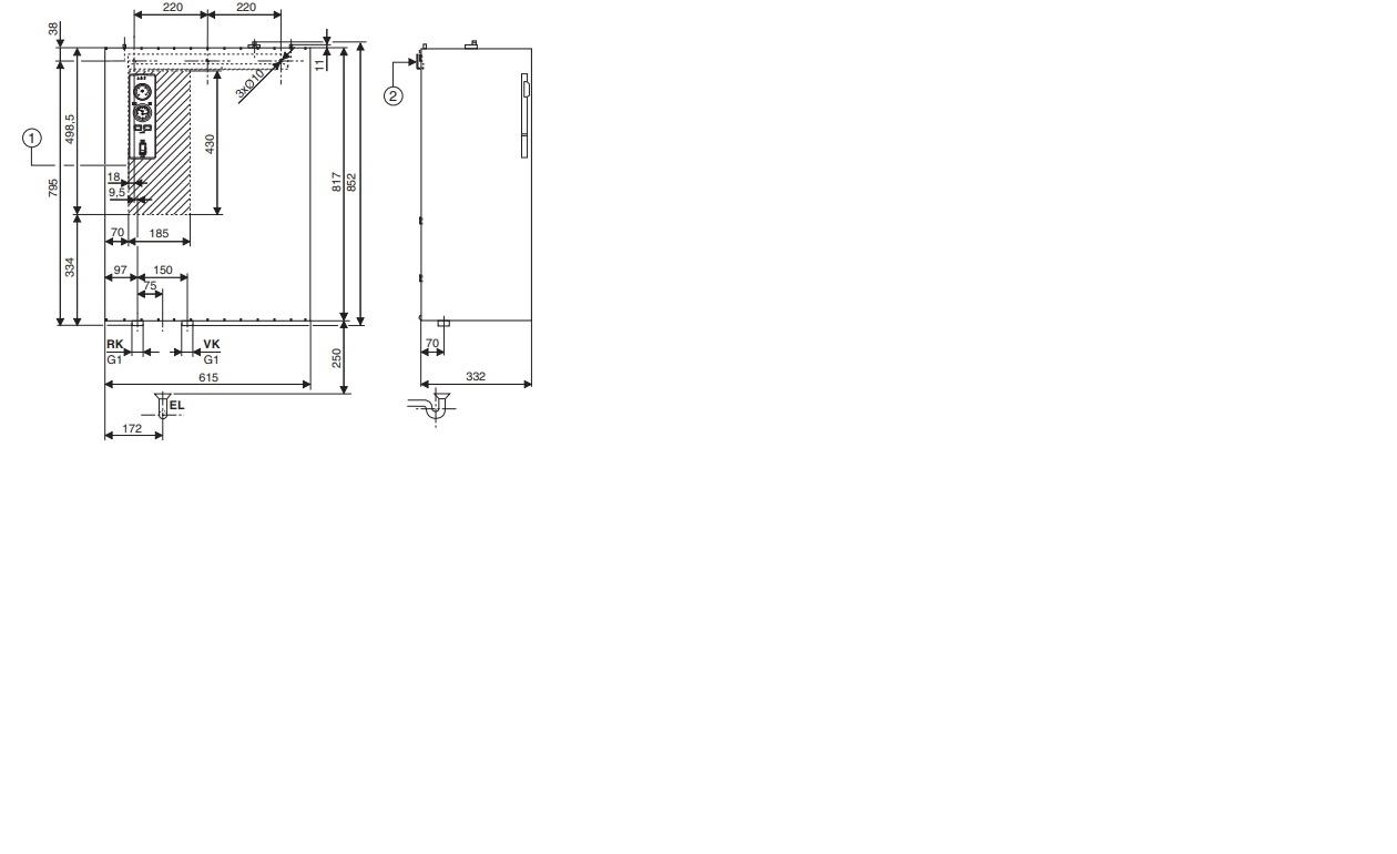 Электрический котел Bosch Tronic 5000 H 45 кВт 3