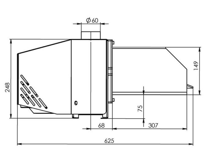 Пеллетная горелка Bioprom AIR Pellet 50 кВт 0