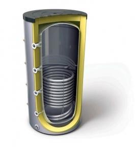 Аккумулирующая емкость на 400 литров со змеевиком EcoTerm BS 400T