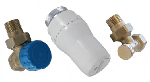 Комплект термостатический угловой с термоголовкой 602300005 UA