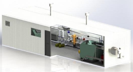 Модульная котельная на твердом топливе 300 - 1000 кВт